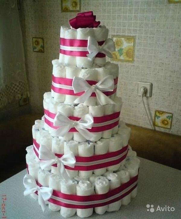 Как сделать торт с памперсов своими руками