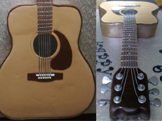 Как сделать торт-гитару