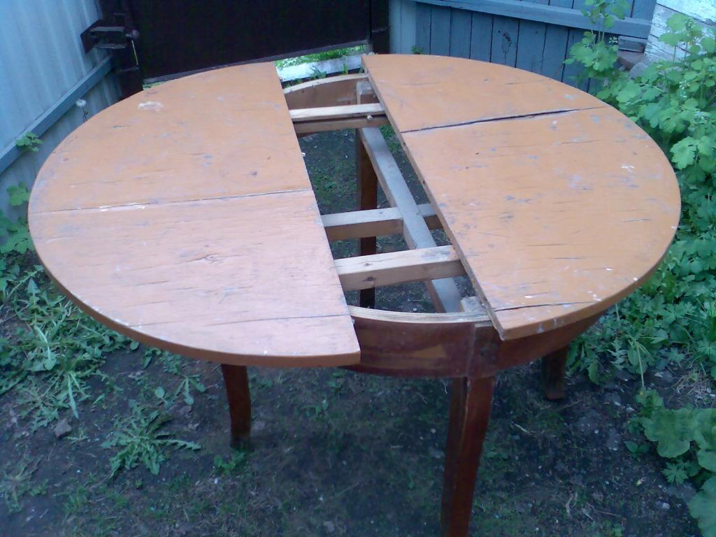 Реставрация раздвижного круглого стола своими руками 29