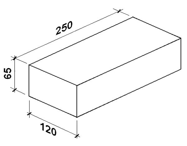 размер стандартного белого кирпича