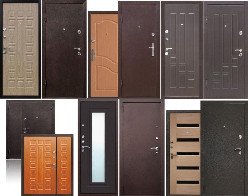 входные металлические двери ассортимент