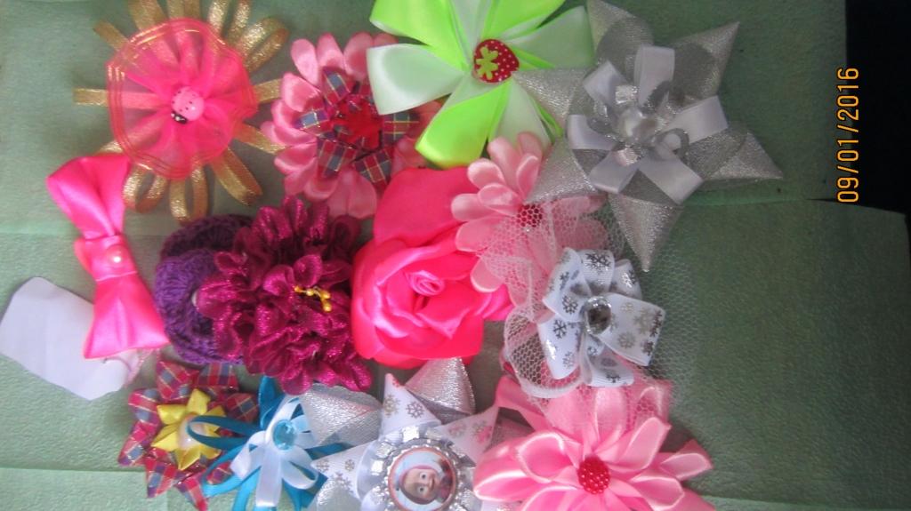 Цветы для заколок и резинок своими руками
