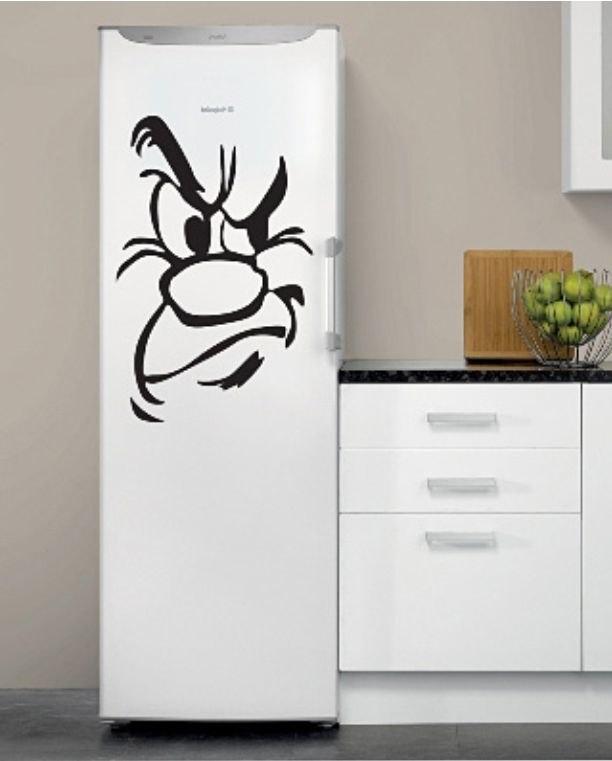 Сделать наклейку на холодильник