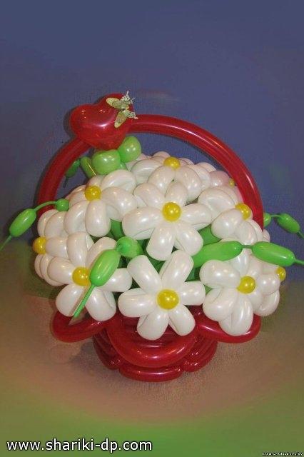 Как сделать букет с цветами из шаров 573