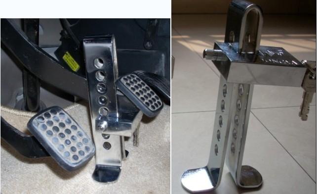Механическая блокировка педалей автомобиля своими руками 17