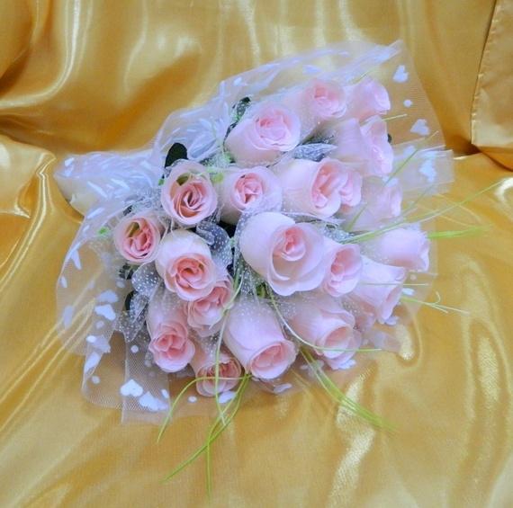 Букет невесты своими руками из гофрированной бумаги 22